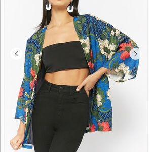 Floral Open Front Jacket